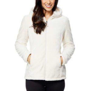 32 Degrees HT Women's Plush Hooded Jacket Ivory